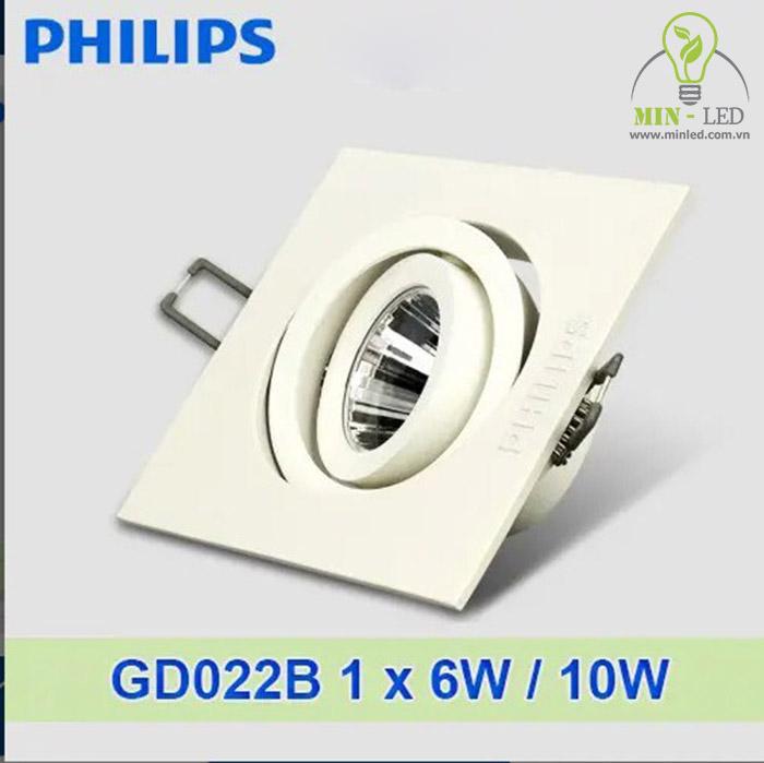 Đèn downlight 1 bóng GD022B 6W