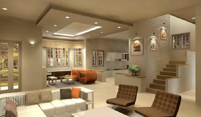 Đèn LED âm trần Rạng Đông D-PT03L 6W với ứng dụng trong phòng khách
