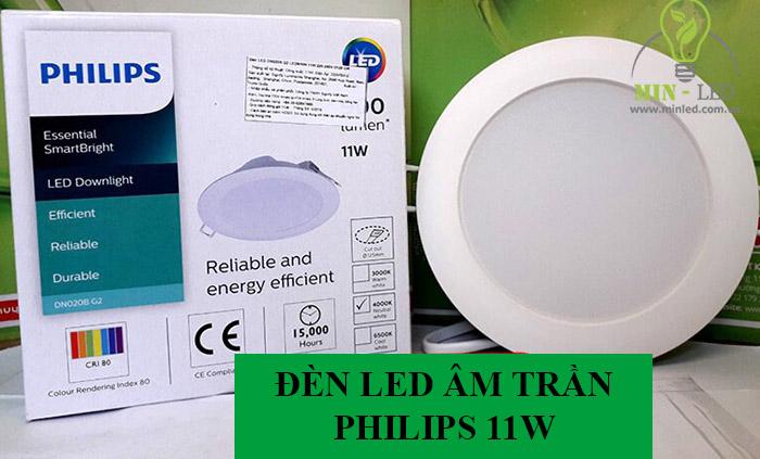 Đèn LED âm trần Philips được cung cấp chính hãng bởi Minled