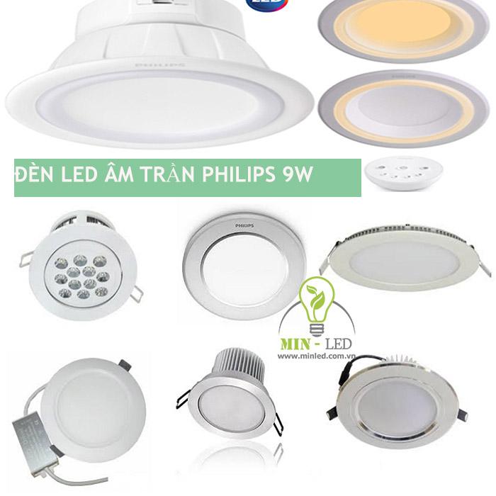 Các mẫu đèn LED âm trần Philips 9w rất được ưa chuộng