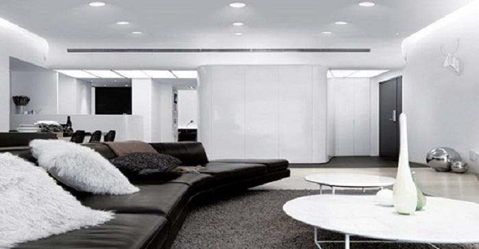 Đèn LED âm trần Rạng Đông 5w được ứng dụng trong phòng khách