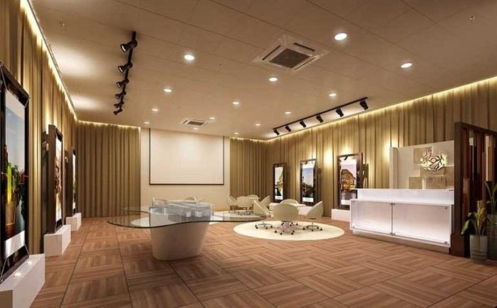 Phòng khách mang vẻ đẹp hiện đại, sang trọng hơn khi ứng dụng đèn LED âm trần 3 màu 7W