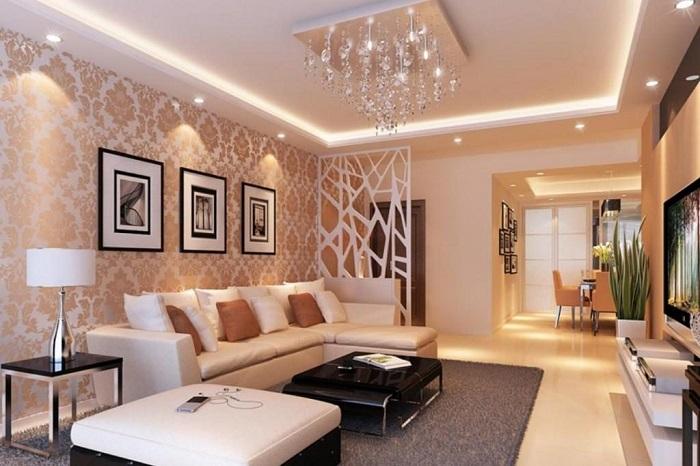 Không gian hay được ứng dụng nhiều nhất các mẫu đèn LED âm trần đổi màu là khu vực phòng khách