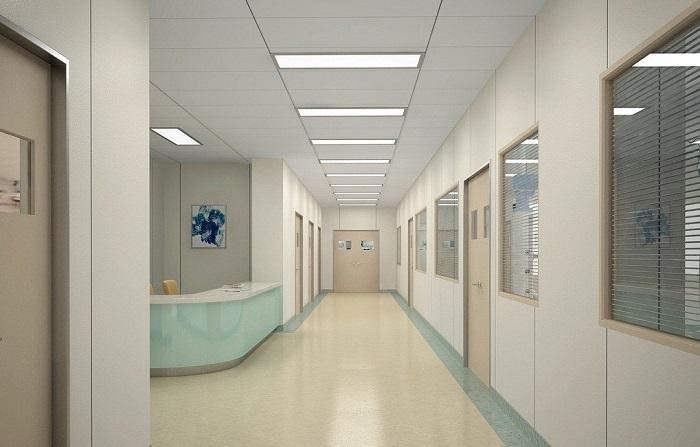 Đèn LED panel 300x1200 ứng dụng trong khu vực hành lang bện viện
