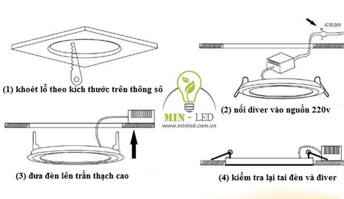Các bước lắp đèn LED âm trần Rạng Đông cơ bản nhất, chỉ cần 20 phút thực hiện - 1