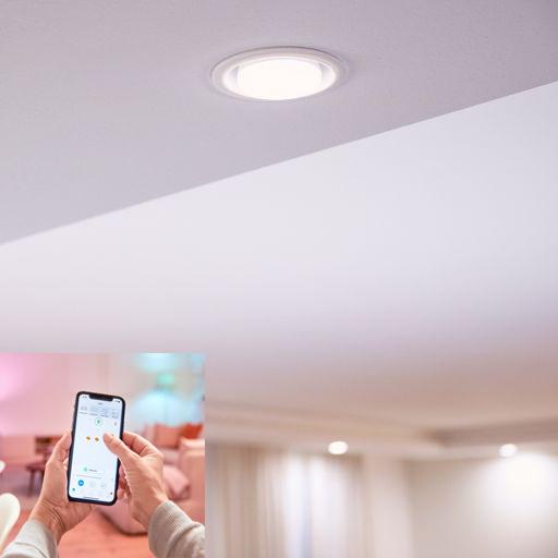 Đèn Philips 3 màu Wiz sử dụng Smartphone điều khiển ánh sáng
