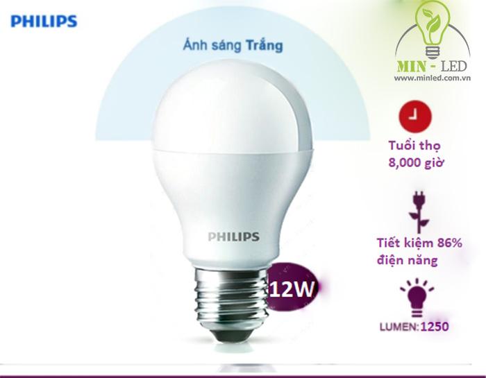 Các ưu điểm đèn LED bulb Philips 12W