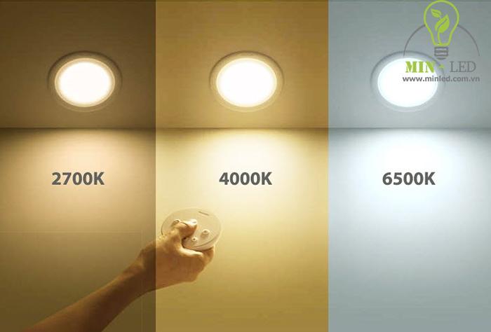 Đèn LED âm trần philips 3 màu hoạt động thông minh - 1