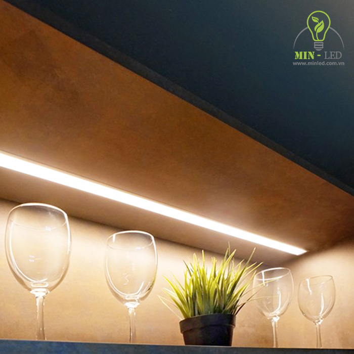 Tùy từng vị trí trang trí bạn có thể lựa chọn dây LED công suất phù hợp hoặc kết hợp thêm thanh nhôm định hình -1