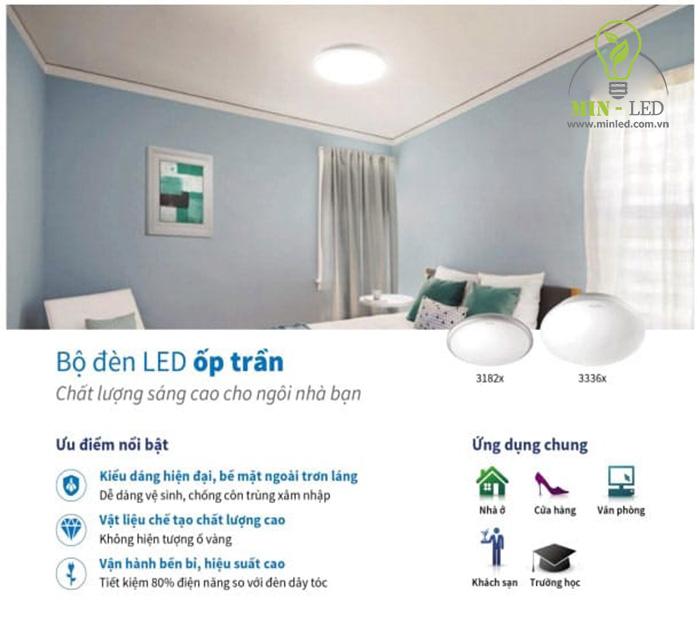Ưu điểm bộ đèn LED ốp trần Philips -1