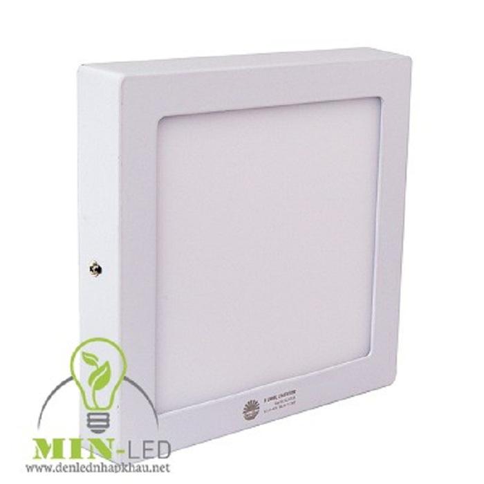 Đèn LED ốp trần vuông viền chắc chắn với chế độ chiếu sáng cạnh -1