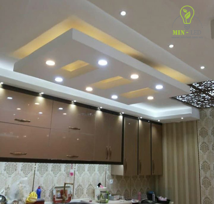 Đèn LED ốp trần tròn chiếu sáng khu vực nhà bếp -1