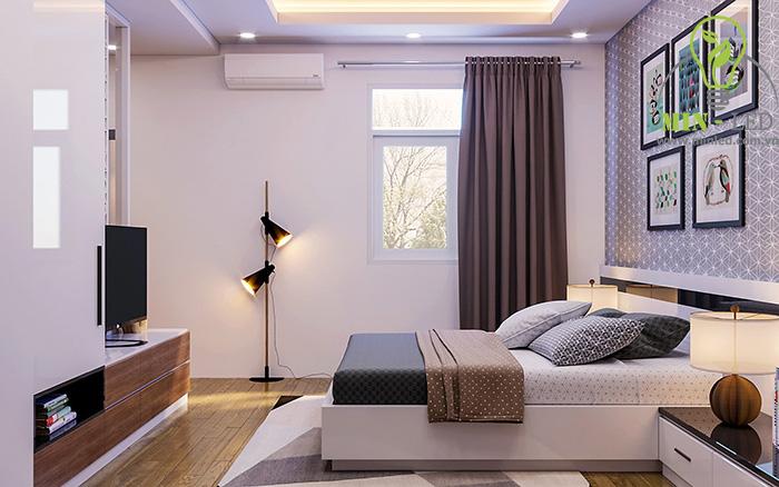 Đèn LED âm trần 7W sử dụng trong không gian phòng ngủ ấm cúng -1