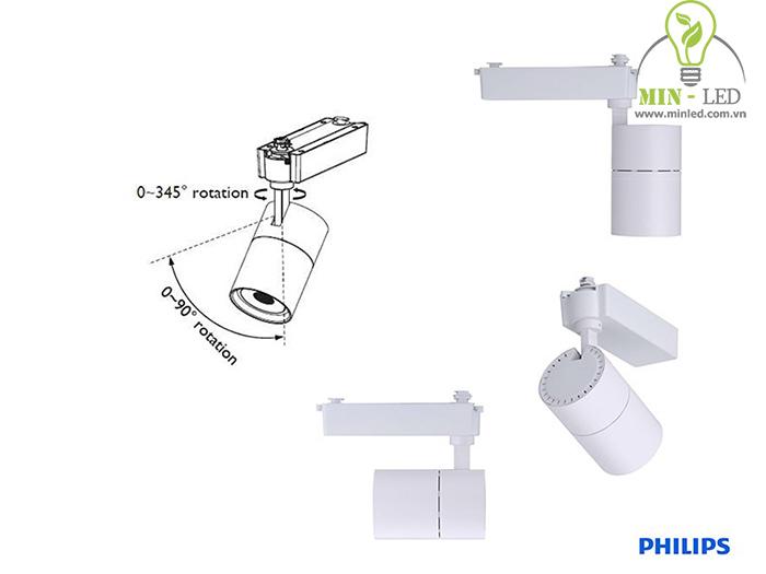 Cấu tạo cơ bản đèn LED rọi ray Philips -1