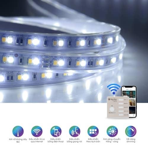 Đèn LED dây Rạng Đông RGBCW 16 triệu màu Bluetooth