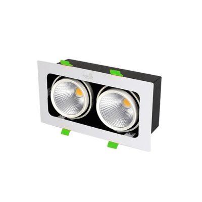 Đèn LED âm trần Spotlight KingLED đôi 20W GL-210-V