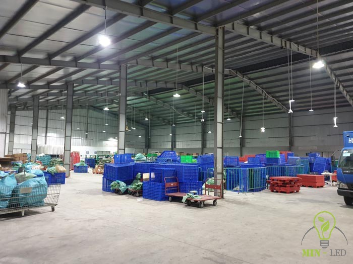 Đèn LED nhà xưởng Rạng Đông được sử dụng vào công trình này