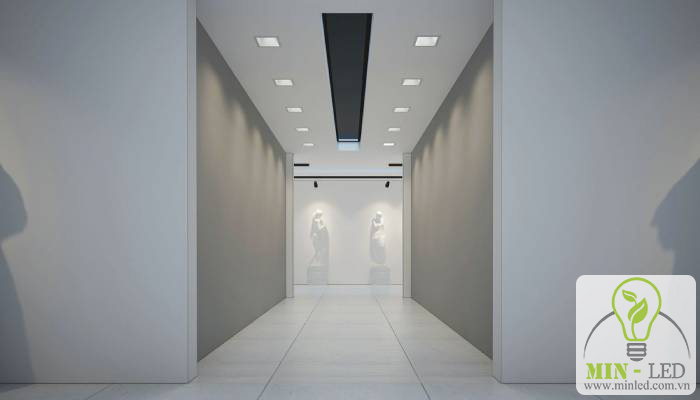 Ứng dụng đèn LED âm trần vuông Philips trong không gian