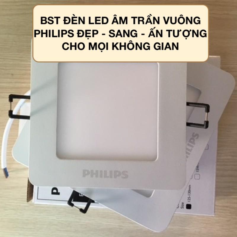 Đèn LED âm trần vuông Philips: Ứng dụng và các mẫu đèn thịnh hành