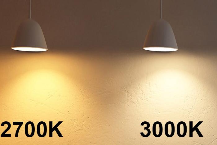 Nhiệt độ màu 2700K và 3000K