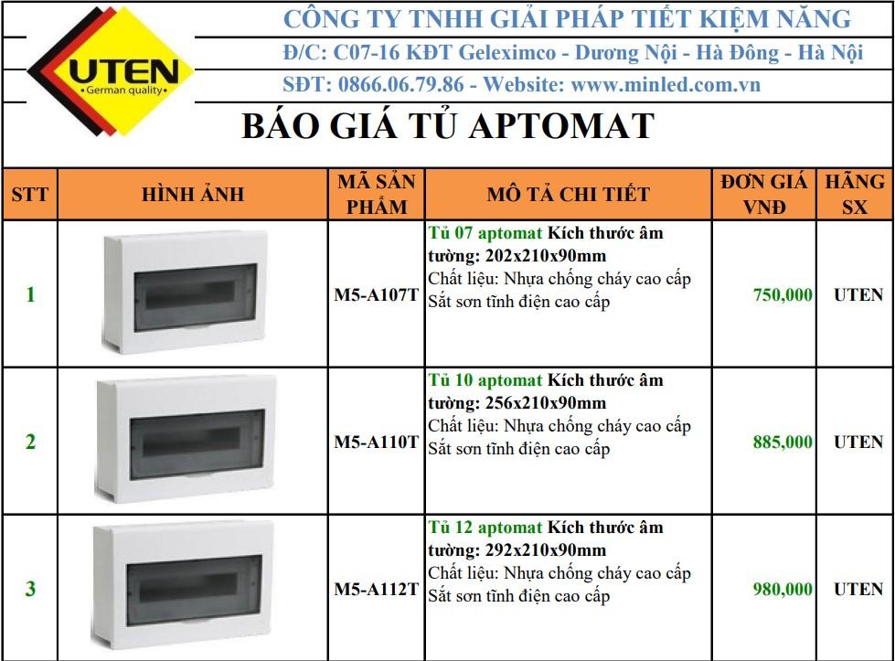 Báo giá tủ điện Uten 2021
