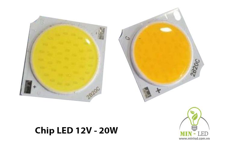 Chip LED COB siêu sáng 20W 12V