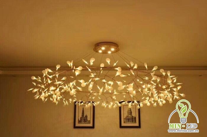 đèn chùm trang trí quán cafe 1
