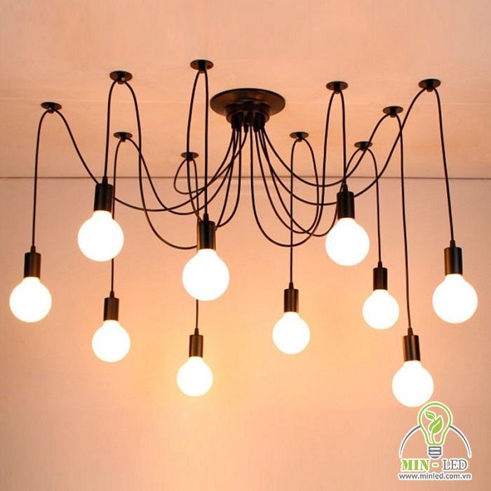 đèn chùm chân nhện quán cafe