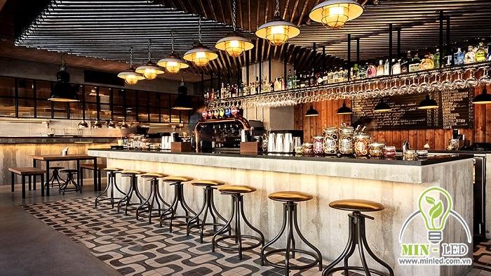 đèn thả trần quán cafe