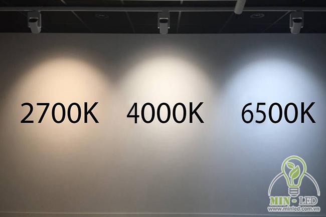 Sự khác biệt giữa nhiệt độ màu 4000K so với các màu khác