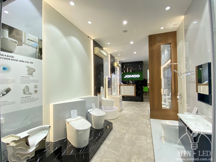 Cung cấp đèn LED chiếu sáng cho Showroom thiết bị vệ sinh JOMOO