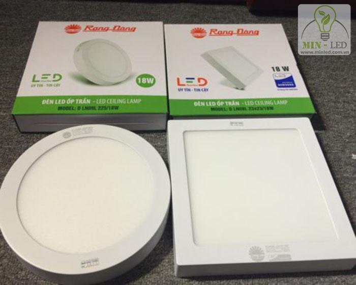 Đèn LED ốp trần tròn, vuông 15W Rạng Đông được lựa chọn tin dùng