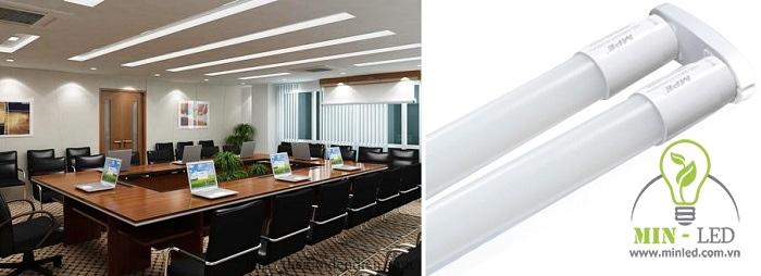 Đèn có kích thước 60x60, kết cấu 2 bóng, đem lại ánh sáng cao cho các không gian