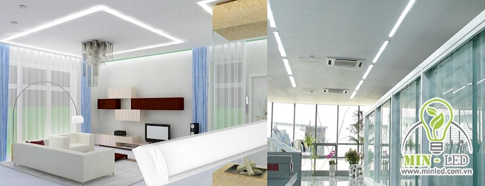Công suất của đèn phù hợp cho cả nhà ở dân dụng và hành lang, văn phòng, cửa hàng...