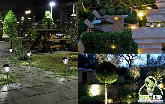 Cần bố trí ánh sáng đồng đều cho toàn bộ các khu vực sân vườn
