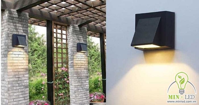 Thiết kế của đèn hắt tường sân vườn vừa giúp chiếu sáng lối đi, vừa đem lại hiệu quả thẩm mỹ cao