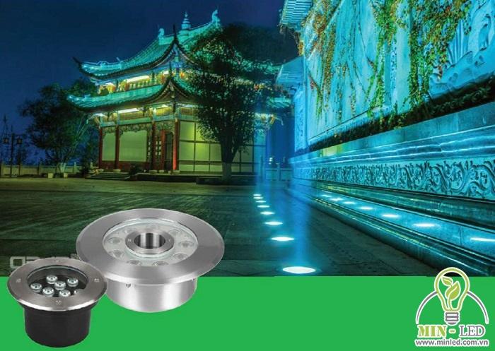 Mẫu đèn LED âm đất MPE LUG2 IP68 áp dụng tiêu chuẩn Châu Âu với độ bền cao.