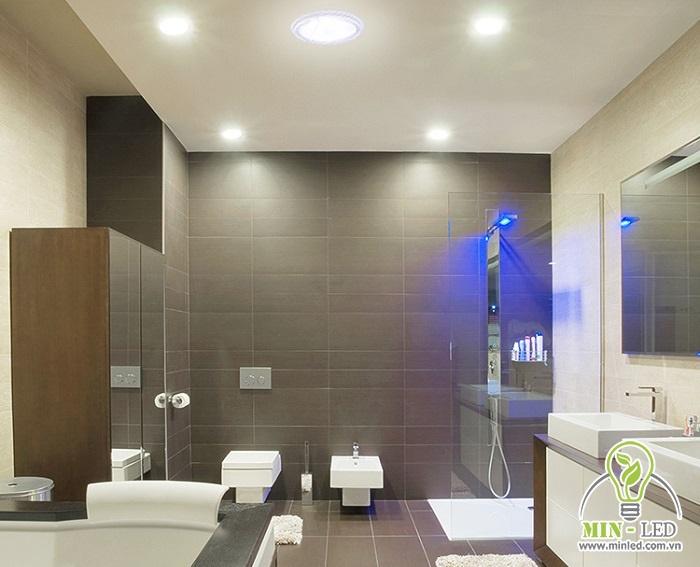 Yếu tố chống thấm rất quan trọng với loại đèn LED sử dụng trong nhà tắm, nhà vệ sinh