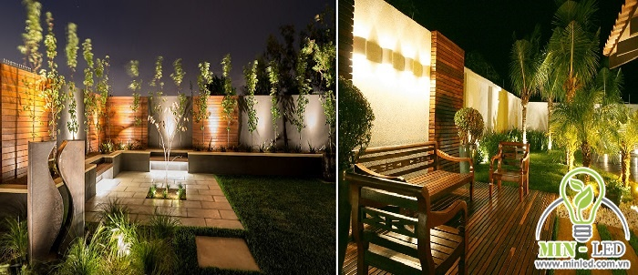 Vị trí tường rào và trụ cổng cần đảm bảo nguồn ánh sáng lớn, chiếu rõ không gian