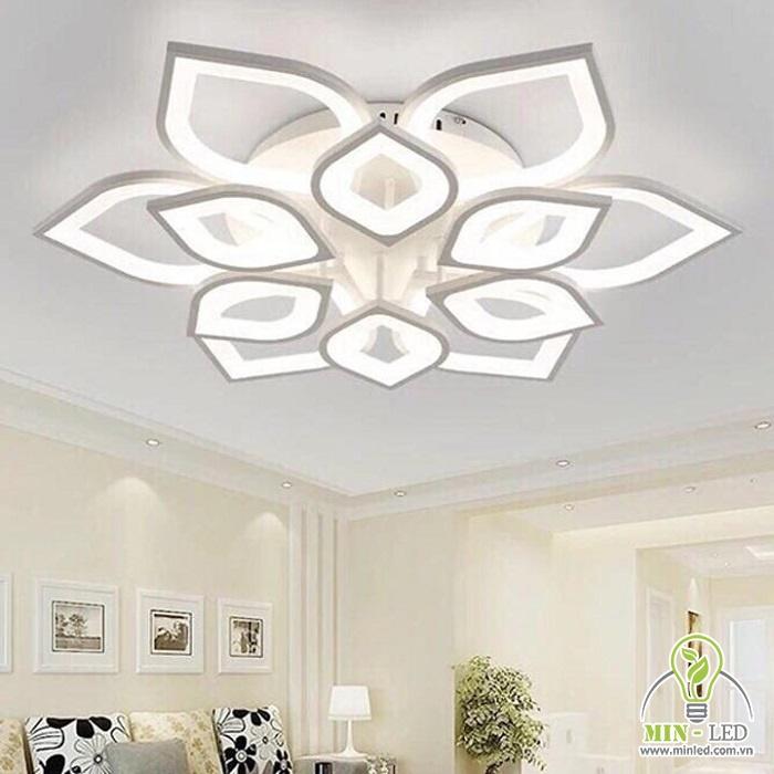 Đèn ốp trần hình sen viền đồng MO923A MO923A rất thích hợp trang trí phòng khách nhỏ