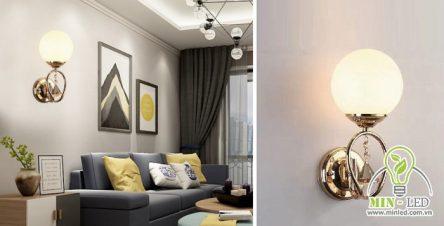 100+ mẫu đèn ốp tường phòng khách sang trọng cùng báo giá